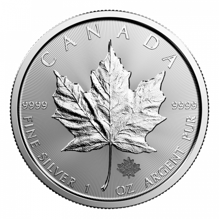 Chinese Silver Coin (Canadian Silver Maple Leaf 1 oz Coin)