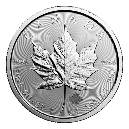 Canadian Silver Maple Leaf 1 oz Coin