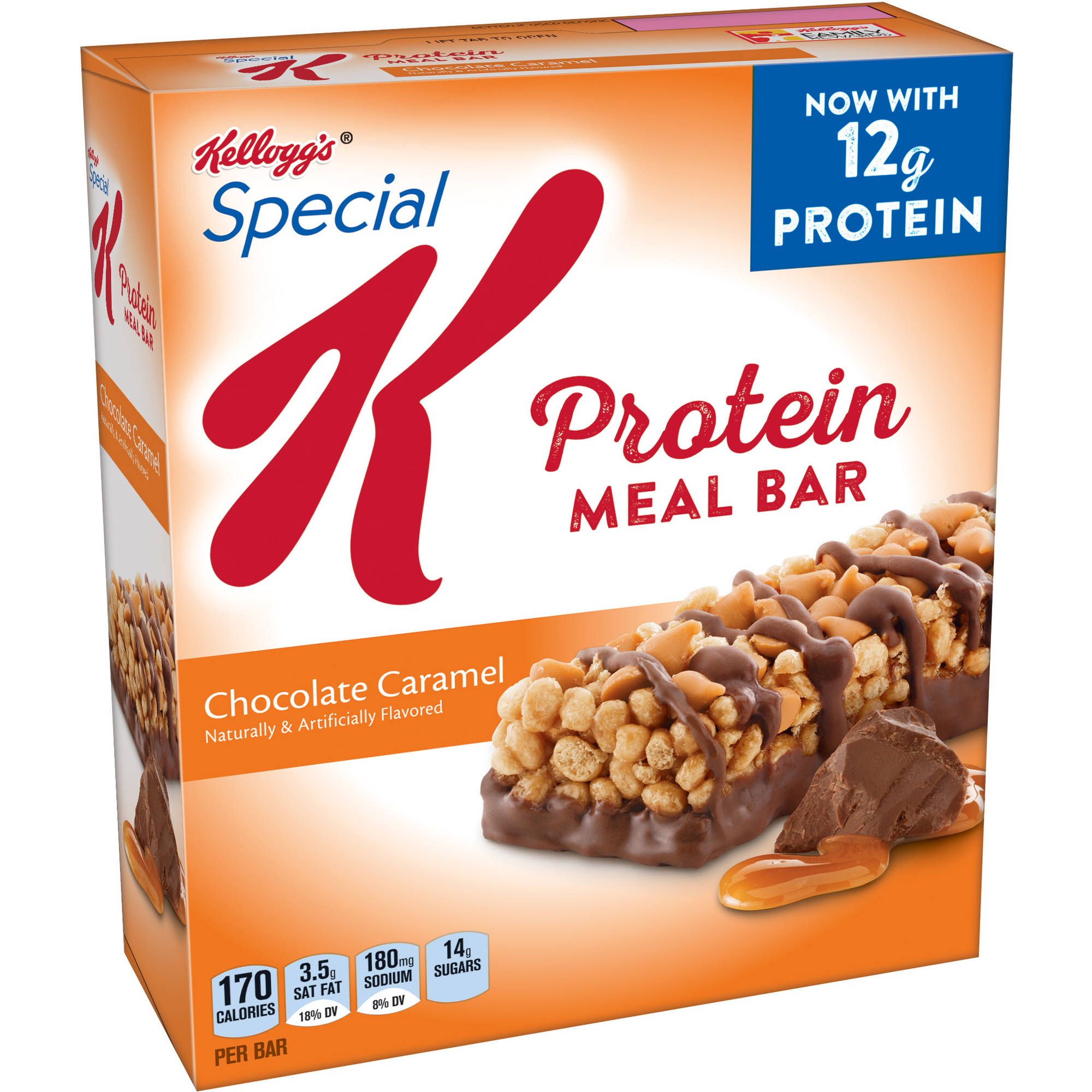 Kellogg's Special K Protein Meal Bar, Chocolate Caramel, 12g Protein, 6 Ct