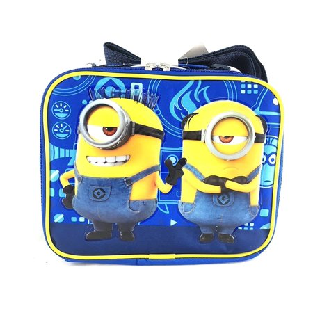 Minion Lunch Box (Despicable Me 3 Minions Canvas Blue Insulated Lunch Bag -)