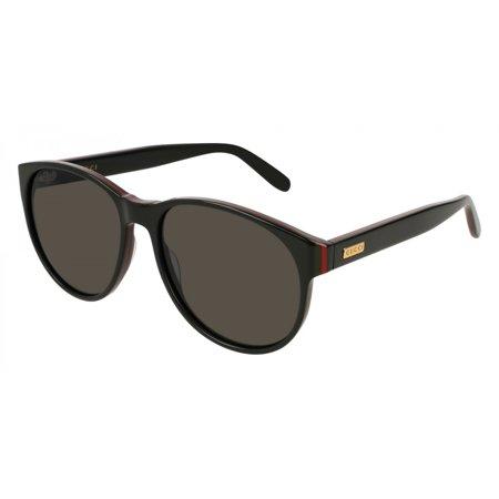 Black Red Stripe Ladies Sunglasses - GG0271S-001