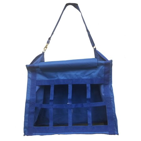 Horse Feed Hay Bag Tote with Dividers Heavy Duty Canvas Nylon Royal Blue