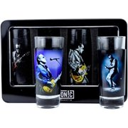 Joe Bonamassa 4-Piece Shot Glass Set Lithos Collection 1 & 2 by Shot Glasses