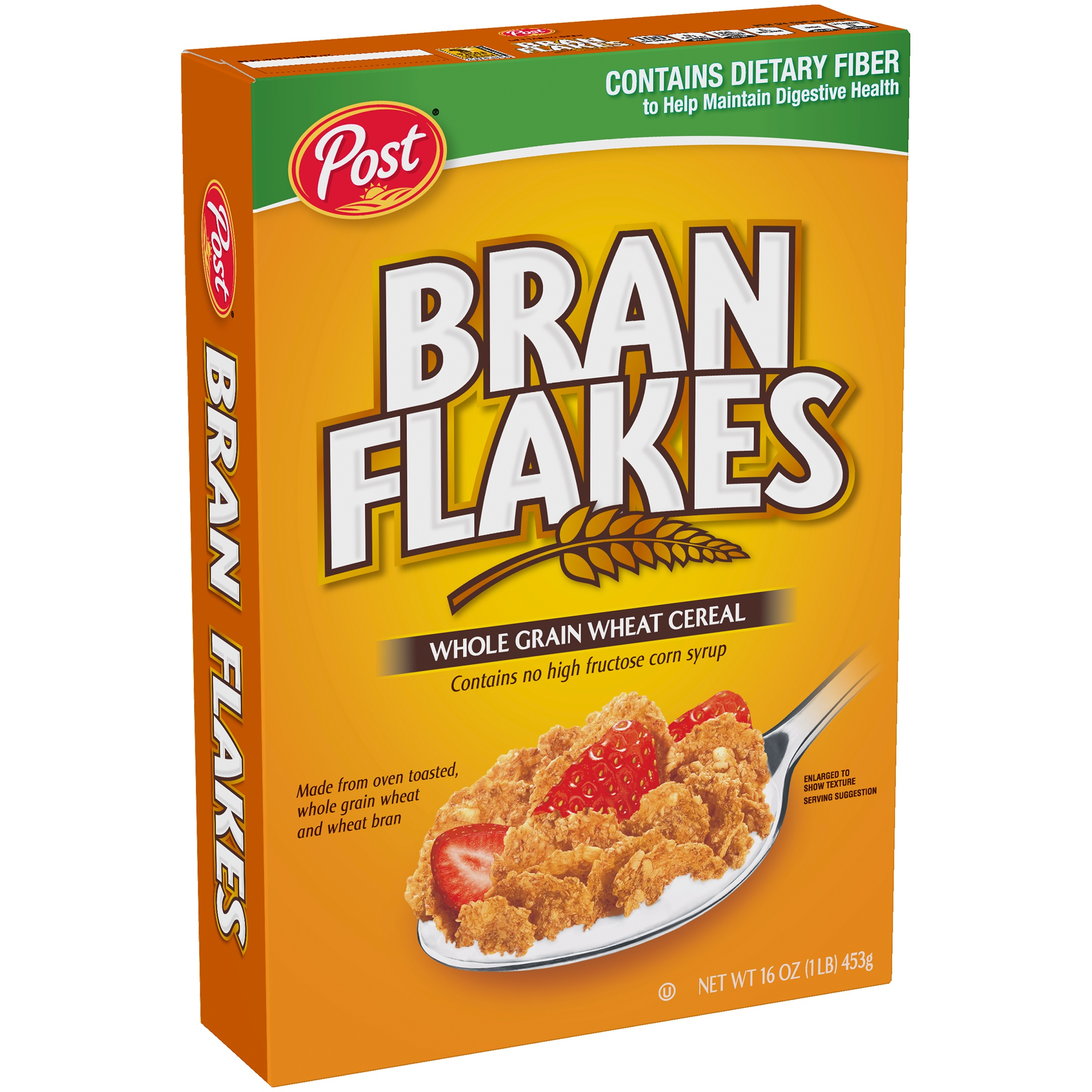 Post® Bran Flakes Whole Grain Wheat Cereal 16 oz. Box