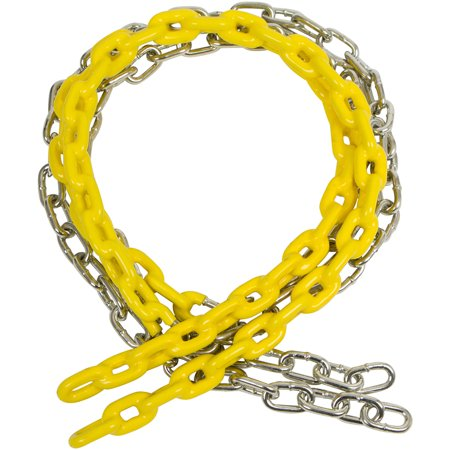 Swing Set Stuff Inc. 5.5 Ft. Coated Trapeze Chain Pair (Yellow)