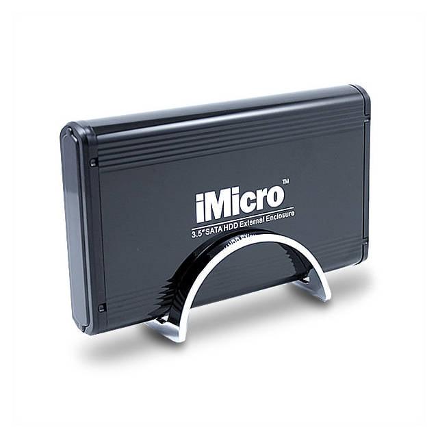 "iMicro 3.5"" USB 2.0 SATA External Drive Enclosure, Black"