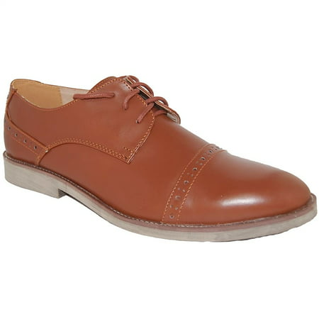 AMERICAN SHOE FACTORY Bossman Brown Leather Lined Upper Oxfords, Men, size 11 ()