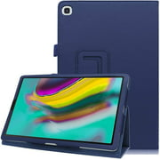 "(SM-T510/SM-T515) Galaxy Tab A 10.1"" 2019 Folio Case, EpicGadget Lightweight Slim Cover PU Leather Case Stand Cover for Tab A 10.1 Tablet (Navy Blue)"