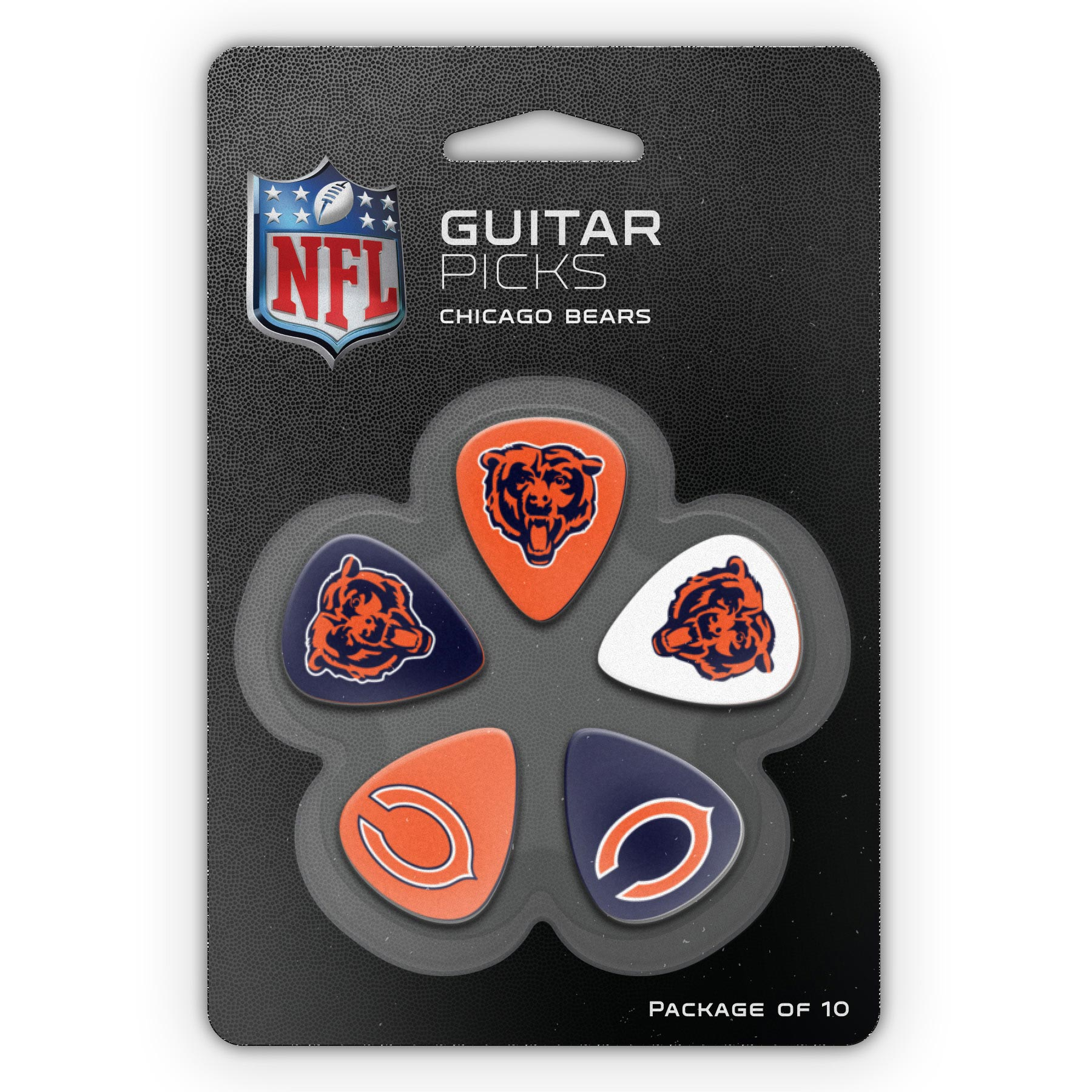 Chicago Bears Woodrow Guitar 10-Pack Guitar Picks