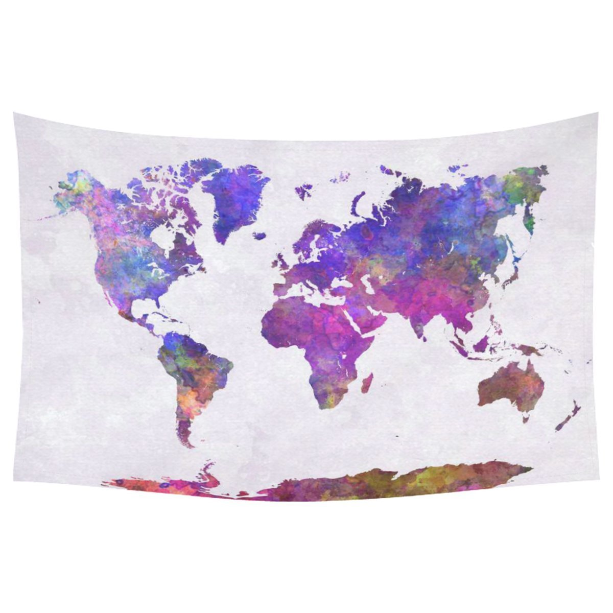 GCKG Abstract Art Splatter Painting Home Decor, Watercolor World Map Tapestry Wall Hanging Art Sets 90 X 60 Inches by GCKG