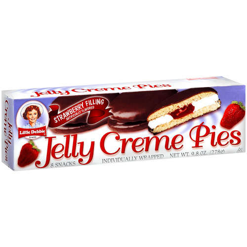 Little Debbie Strawberry Filling Artificially Flavored Jelly Cream Pies, 9.8 oz
