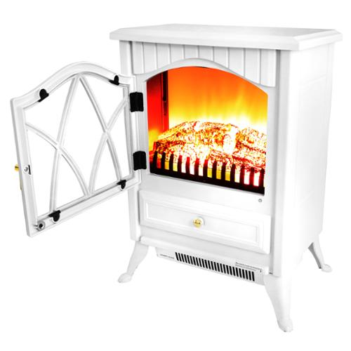 AKDY 16-inch AK-OS18D2P-WHT Free Standing Electric Fireplace Indoor Heater