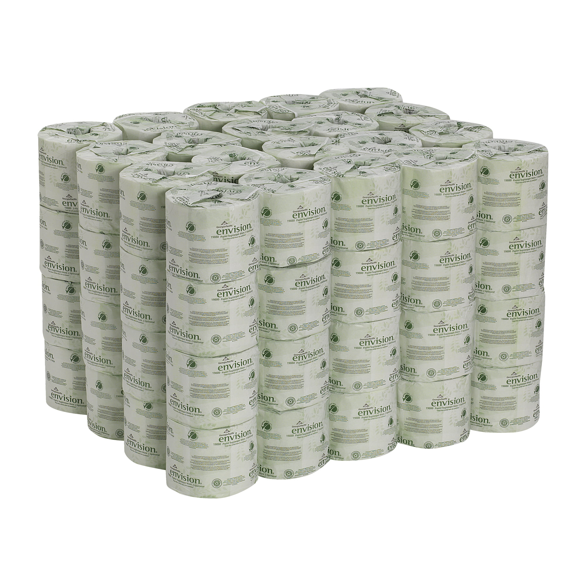 400 Per Roll Green Heritage Toilet Paper Case of 96 Rolls 2Ply 4 x 3 Sheets Eco-Friendly