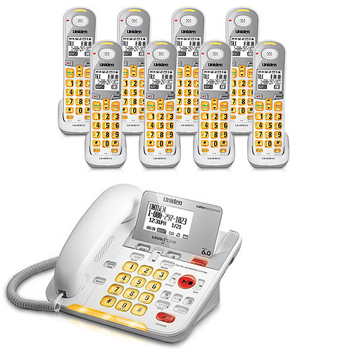 Uniden D3098-8 DECT 6.0 Amplified 8 Handset Phone w  Power Failure Protection & Answering System by Uniden