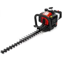 """XtremepowerUS 26cc 2-Cycle Gas Hedge Trimmer 24"""" Double-Sided Blades Shrub Trimmer Recoil Gas Trim Blade Clipper Saw Bushes"""