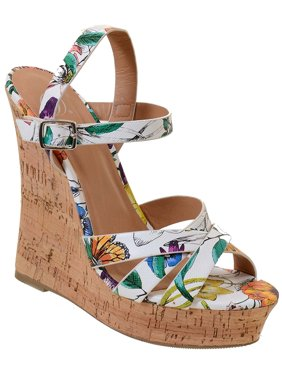 032efafef49 Product Image Fourever Funky Open Peep Toe Ankle Strap Buckle High Heel  Platform Cork Wedge Sandals (7