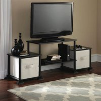 Mainstays No-Tools Assembly Entertainment Center, Multiple Sizes and Colors
