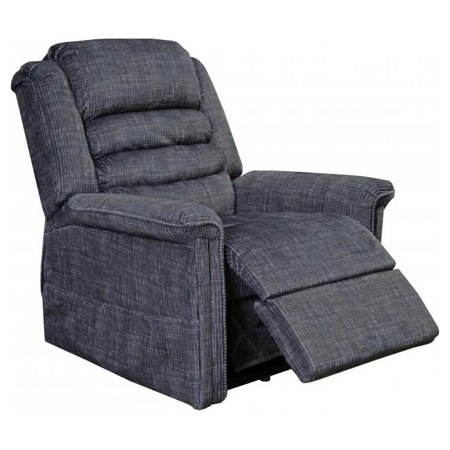 Power Lift Full Lay-Out Chaise Recliner in Smoke Finish ()
