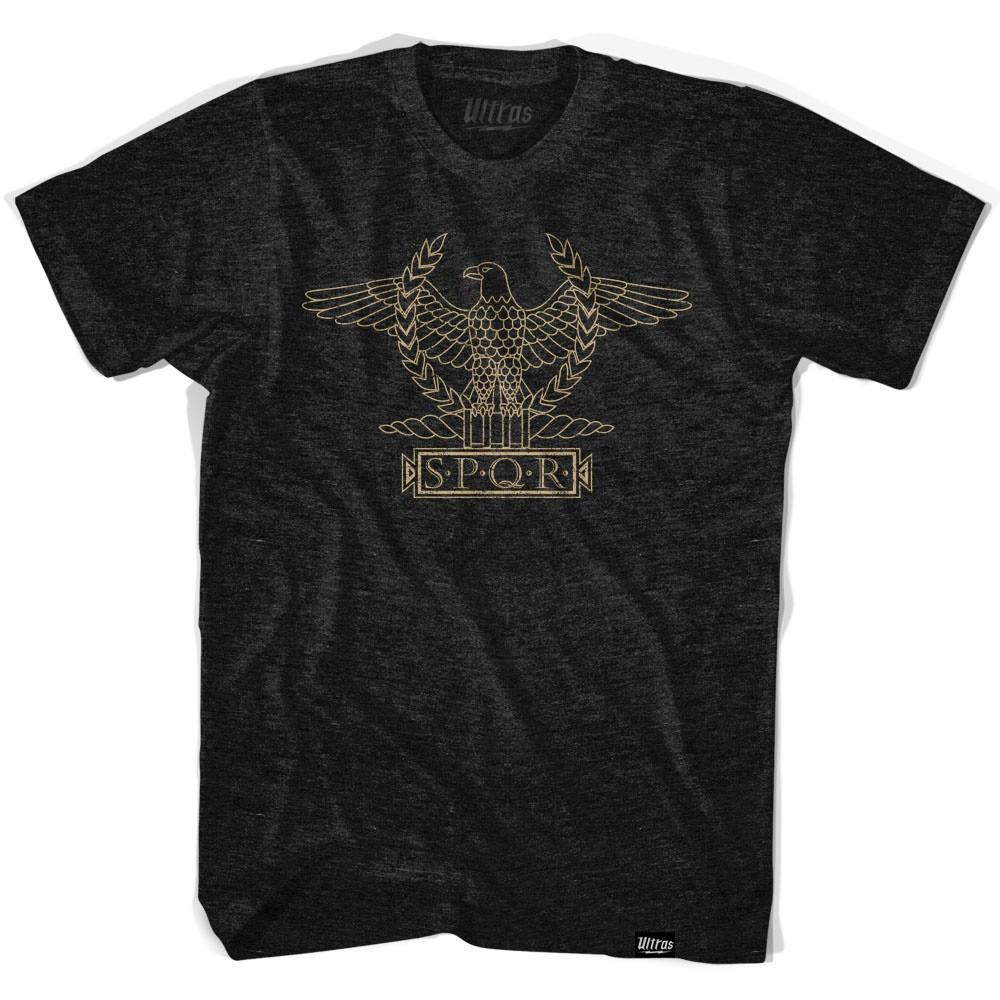 Rome Eagle SPQG T-shirt Tri-Black Adult Large