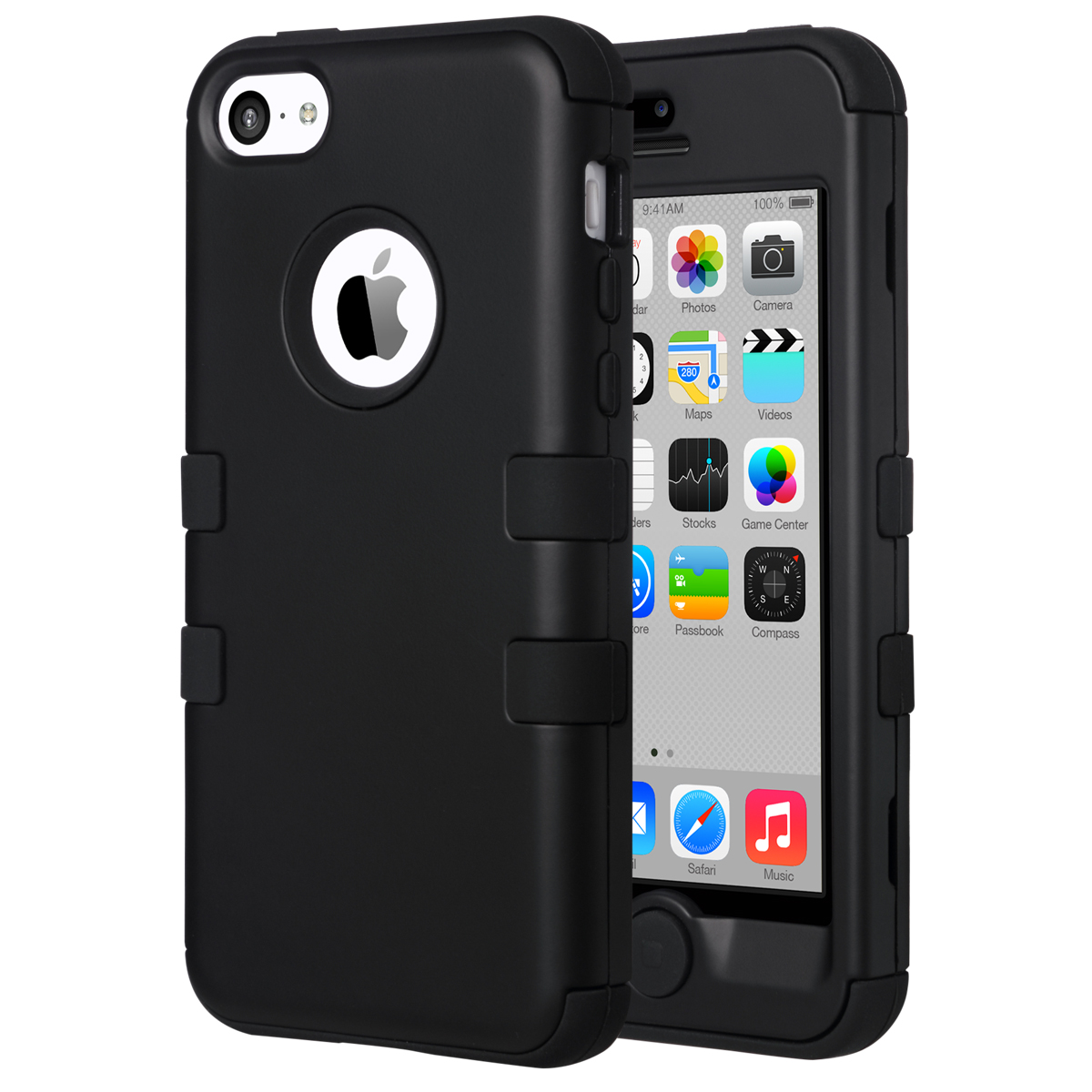 ULAK iPhone 5C Case, [Colorful Series] 3-Piece Hybrid Protector Case Soft Silicone Hard PC Cover for Apple iPhone 5