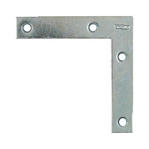 National Mfg/Spectrum Brands Hhi N266-569 Flat Corner Iron, Zinc, 4 x 3/4-In.