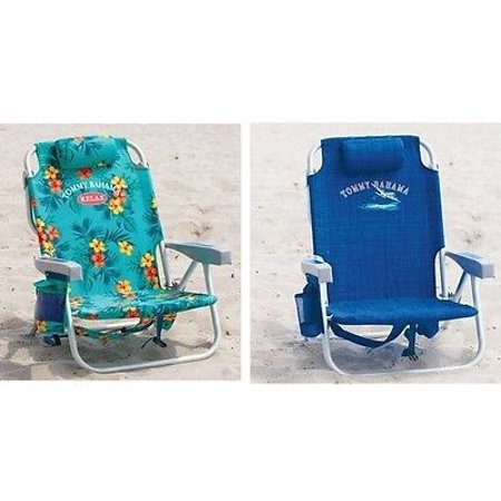 1 Flower 1 Blue Tommy Bahama Backpack Cooler Beach Chair
