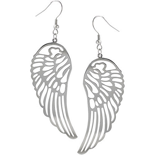 Brinley Co. Sterling Silver Dangle Earrings, Cut-Out Wings
