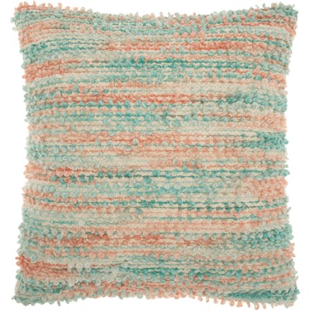 Nourison Life Styles Space Dyed Woven Multicolor Throw Pillow