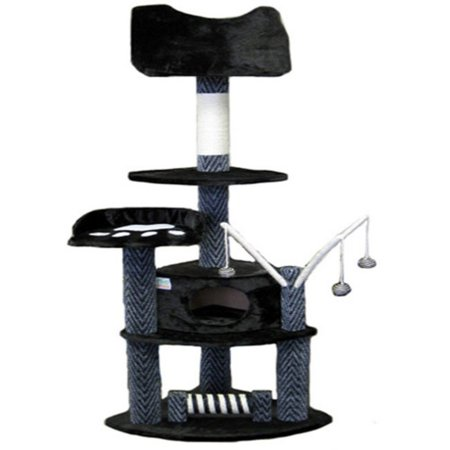 Go Pet Club Cat Tree   Gray And Black   62 In
