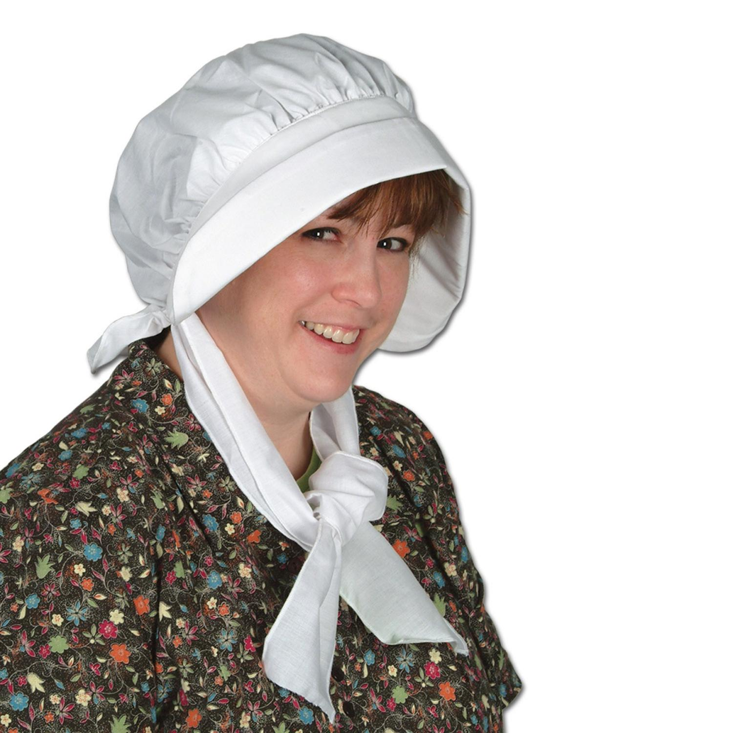 Club Pack of 6 Pilgrim Bonnet Thanksgiving, Halloween One Size Fits Mos