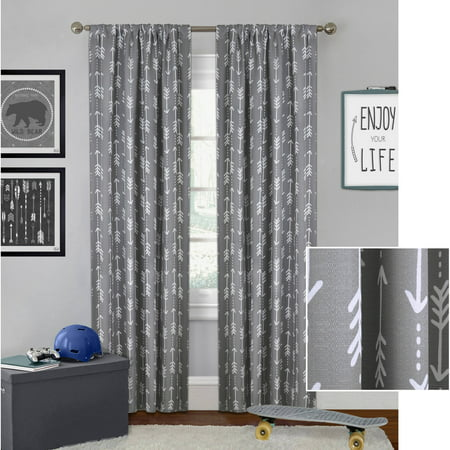 bedroom curtains. Better Homes and Gardens Arrows Boys Bedroom Curtain Panel