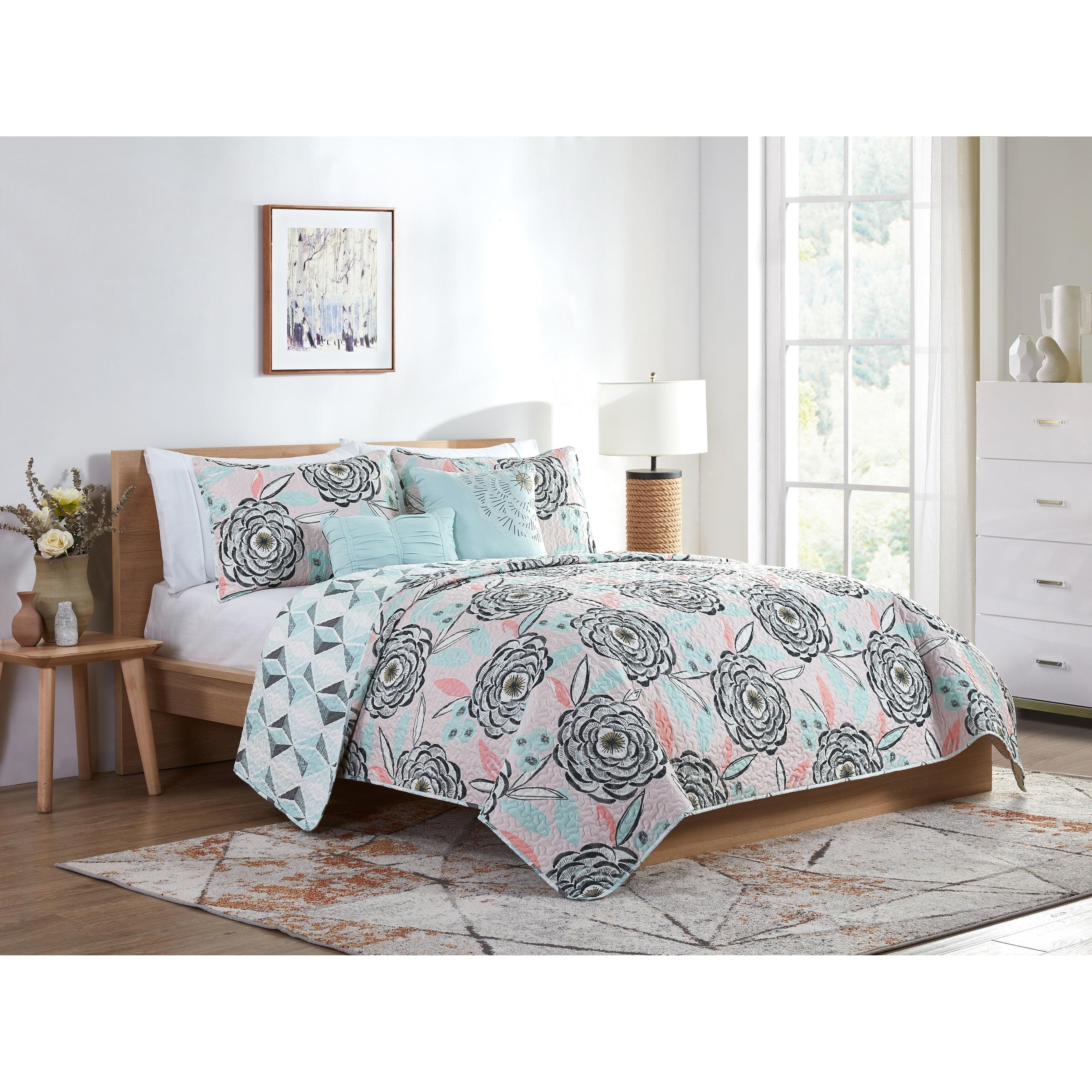 VCNY  Home Shayla Reversible Floral Comforter Set