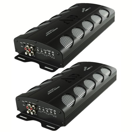 Audiopipe APCLE 1500 Watt Class D 1 Ohm Stable Car Audio Mono Amplifier (2 Pack) (1500 Watt Kicker Amp)