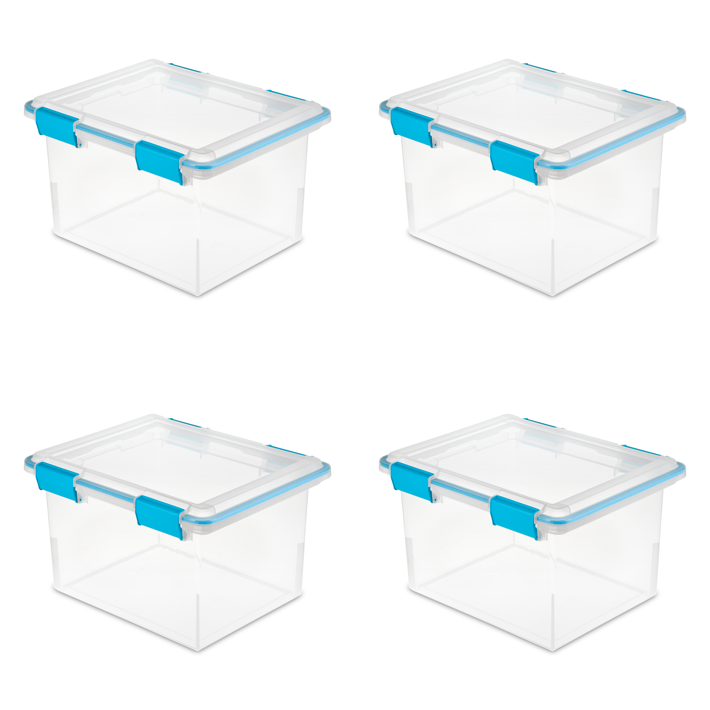 Sterilite 32 Qt./30 L Gasket Box, Blue Aquarium (Case of 4)