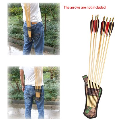 Oxford Fabric Bow Arrows Holder Belt Arrow Quiver Tubes Strap Hunting Archery