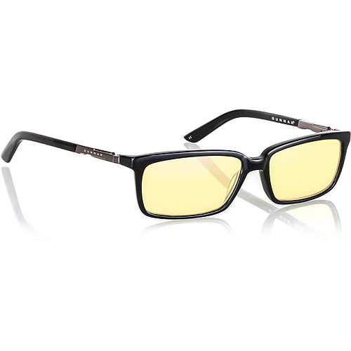 Gunnar Optics Haus Computer Eyewear - Onxy Frame w/ Amber Lens