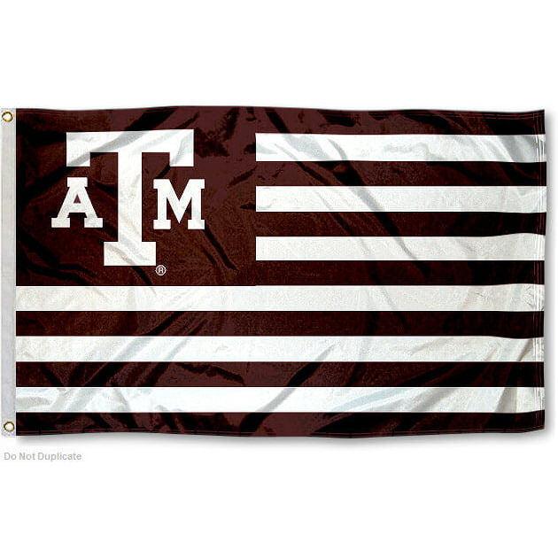 Texas A&M Aggies American Flag Design 3' x 5' Flag