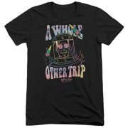 Astro Pop Space Popssdey Mens Tri-Blend Short Sleeve Shirt