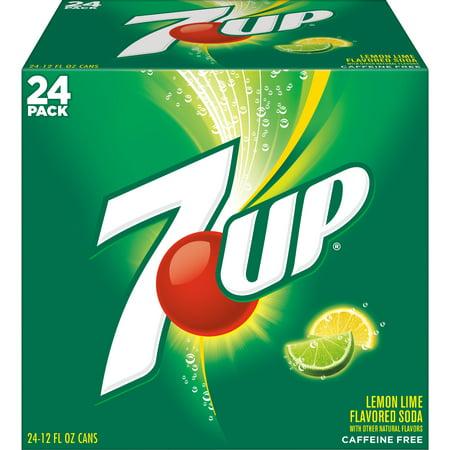 7UP Caffeine-Free Lemon Lime Flavored Soda, 12 Fl. Oz., 24 Count