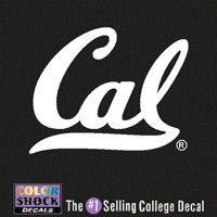 California Golden Bears Decal- Script Cal