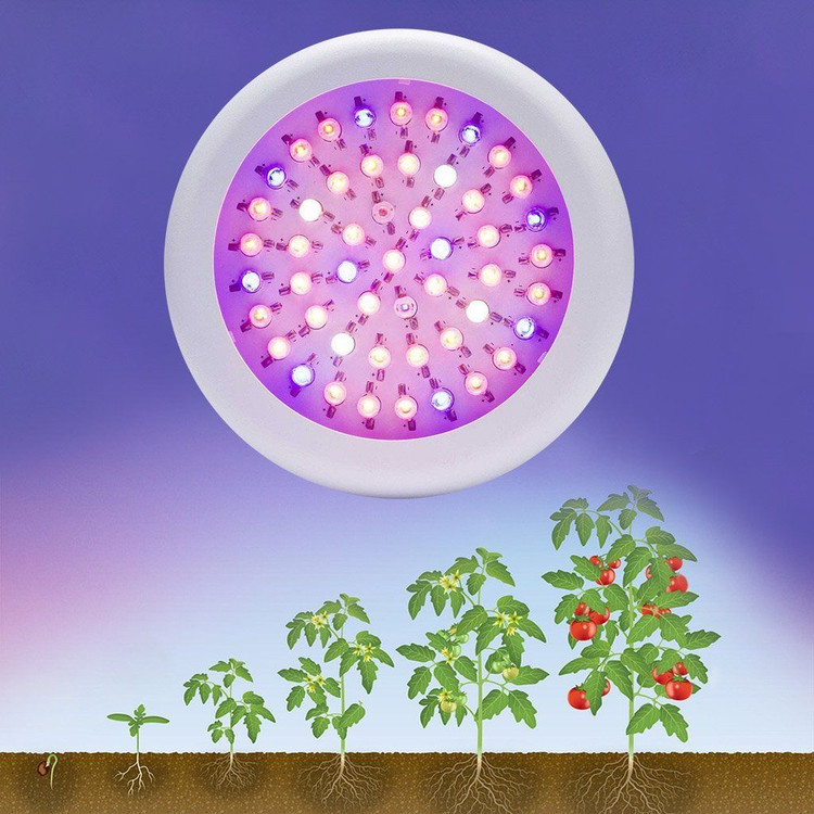 LED Grow Light, UFO 150W Full Spectrum LED Grow Light Bulb, Super Bright Hydroponic LED Grow Lights With UV&IR for Indoor Plant Growth