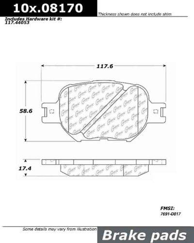 Centric 103.08170 Disc Brake Pad