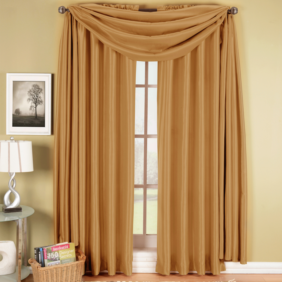 Soho Faux Silk Rod Pocket Window Treatment Panel (Single)- Mushroom - 42x96