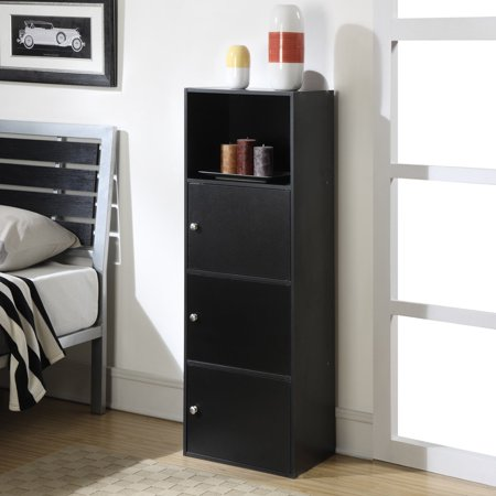 Convenience Concepts X Tra Storage 3 Door Modular Cabinet Black