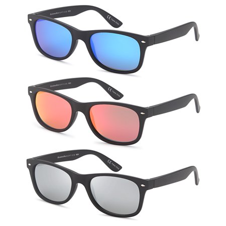 c0e05eb6c4 Gamma Ray Optics - Gamma Ray Polarized UV400 Classic Style Sunglasses with  Mirror Lens - Matte Black - Walmart.com