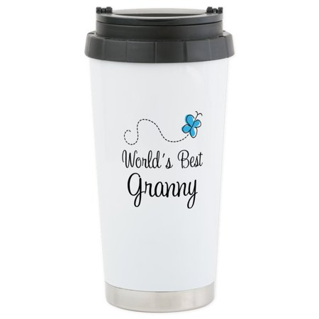 CafePress - Granny (World's Best) Stainless Steel Travel Mug - Stainless Steel Travel Mug, Insulated 16 oz. Coffee (Best Insulated Coffee Tumbler)