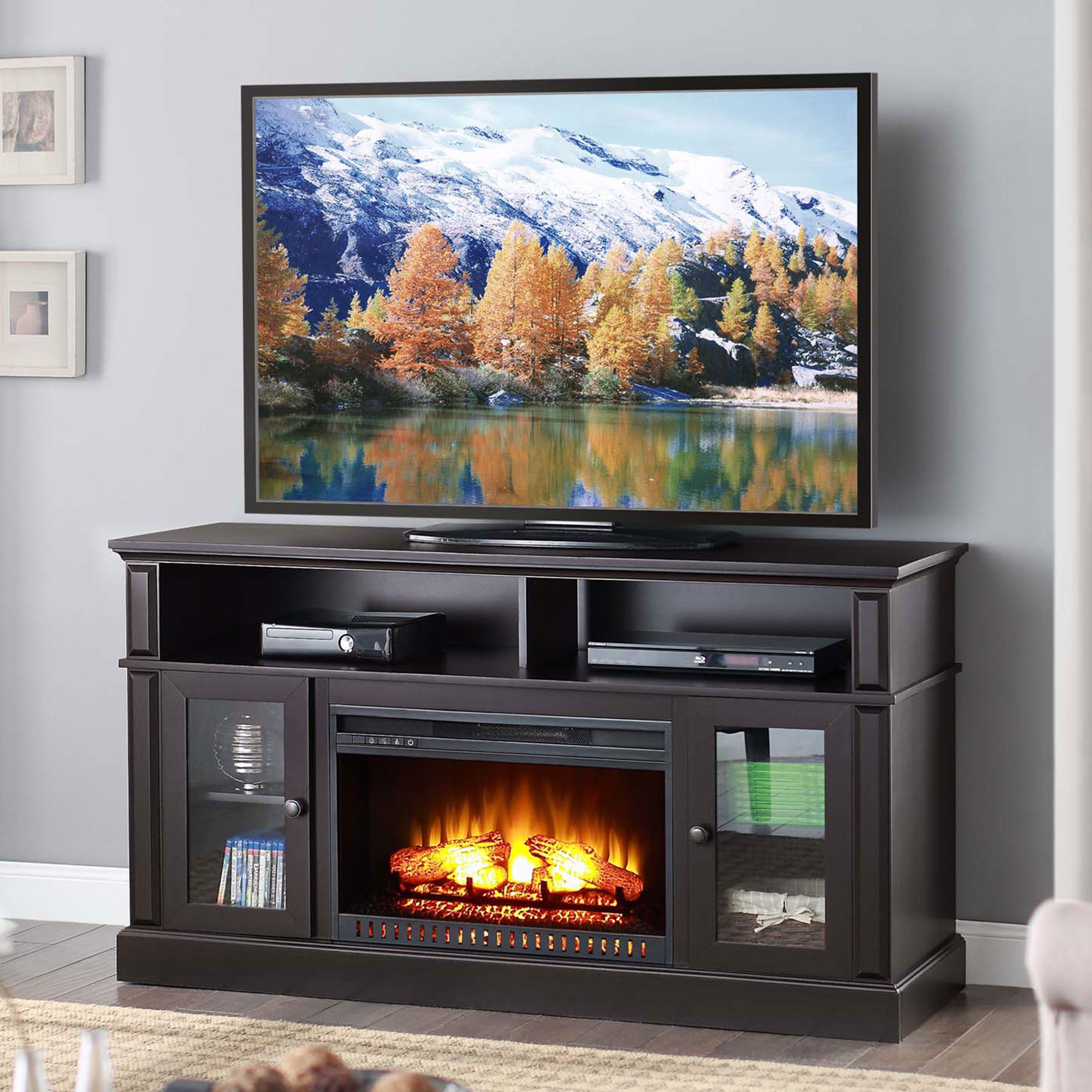 Whalen Barston Media Fireplace for TV's up to 70 Multiple Finishes