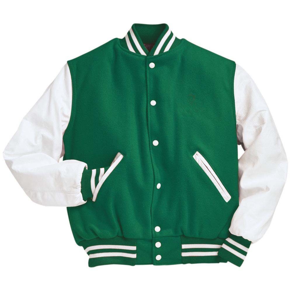 Varsity Kelly/White Wool with Jacket From Holloway Sportswear - Adult Small