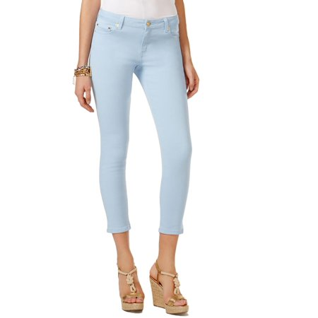 8e43757f3a8e MICHAEL Michael Kors - MICHAEL Michael Kors Womens Izzy Cropped Mid-Rise Skinny  Jeans - Walmart.com