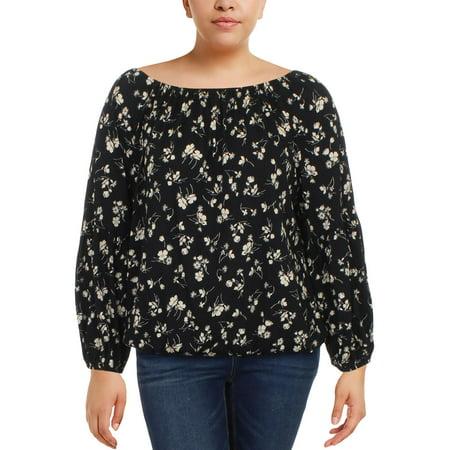 lauren ralph lauren womens knit floral print pullover top